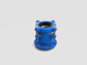 niebieski łącznik RK do PE i PVC