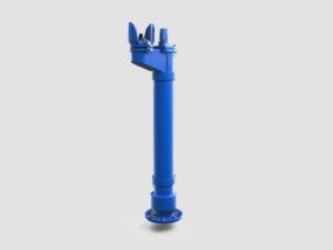niebieski hydrant podziemny